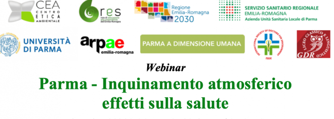 """Ricerca 2^D al webinar """"Parma – Inquinamento atmosferico effetti sulla salute"""""""